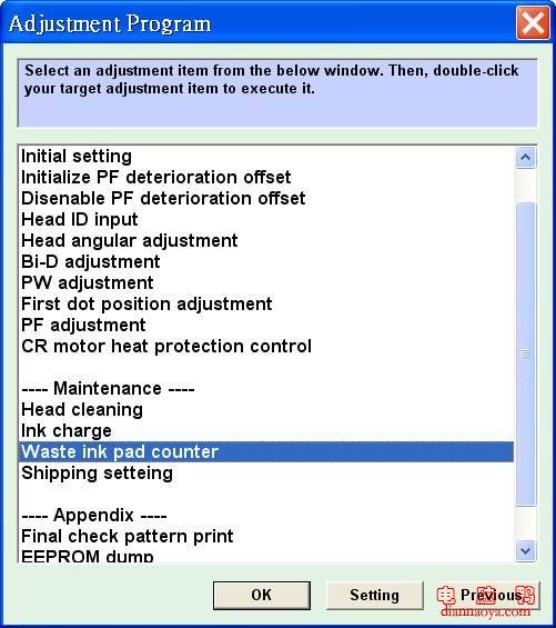 Сбросить счетчик памперса (абсорбера) epson stylus photo tx700w с помощью adjustment program
