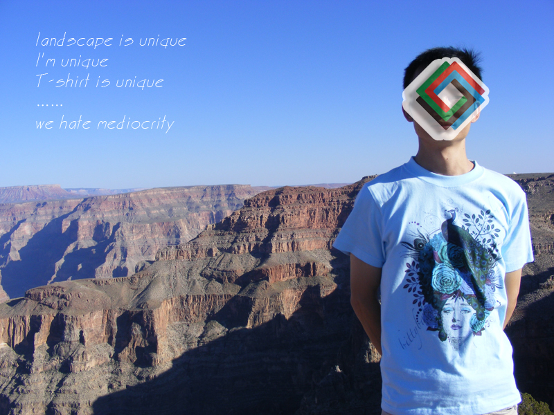 DTG inkjet printing,direct to garment printer sample,The Cotton Printing T-shirt The photo was taken in Grand Canyon National Park in the United States (America)